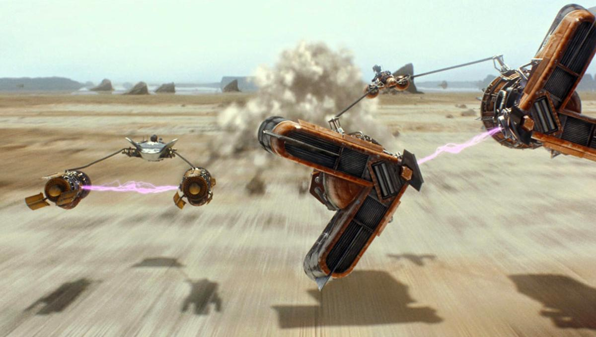 The Phantom Menace's podrace was a triumph over a real natural disaster