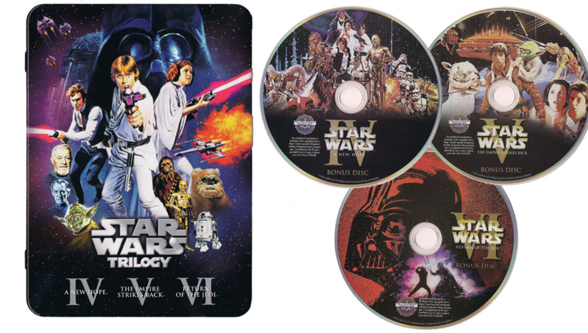 Star Wars The Gl Half Full Gift Of Only Official Unaltered Original Trilogy Dvds