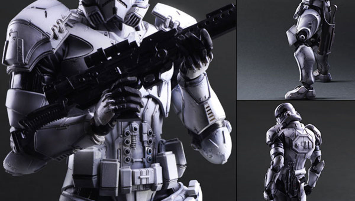 Star Wars action figures as reimagined by Square Enix