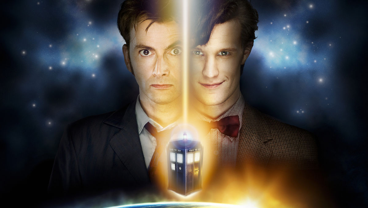 1st Set Pics Of Tennant S 10th And Smith S 11th Doctors Together