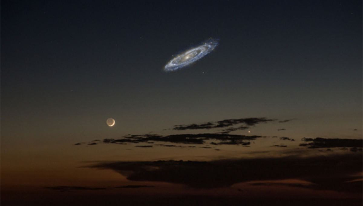 Yes, That Picture of the Moon and the Andromeda Galaxy Is About Right