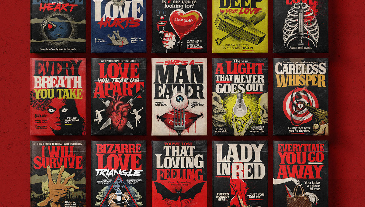 Artist Creates Stephen King Style Covers Of Your Favorite 80s Love Songs SYFY Wire