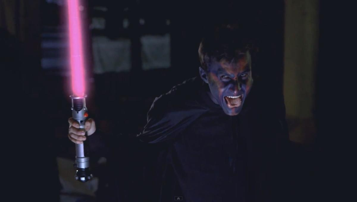 The Jedi with the galaxy's worst memory takes on his nemesis in hilarious vid