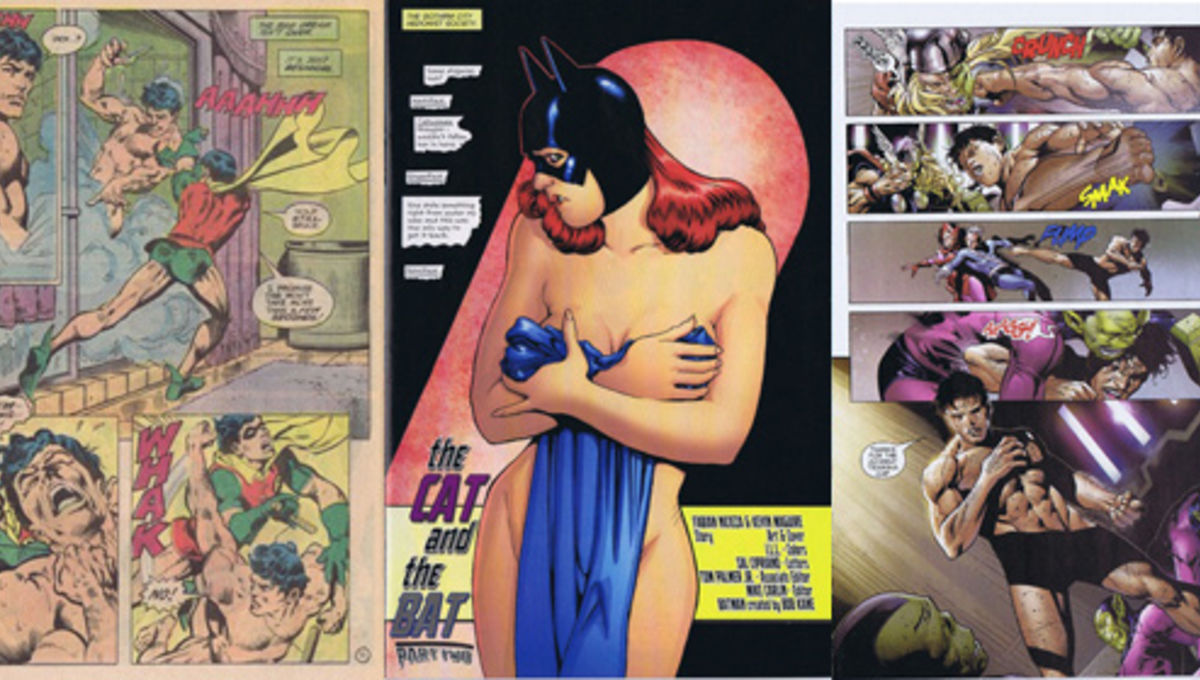 all comic book women naked