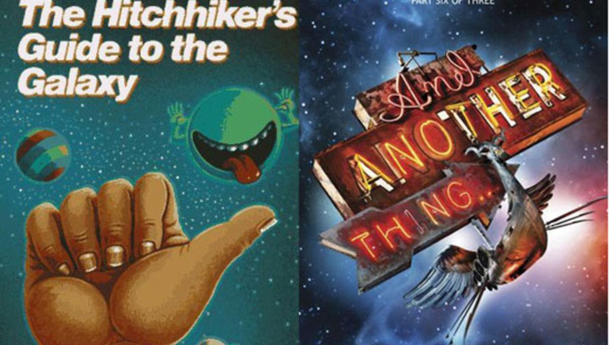 the hitchhikers guide to the galaxy Don't panic the hitch hikers' guide to the galaxy is a classic british television series from the early 1980s, starting out as a bbc radio series of six episodes which grew to twelve episodes, then five best-selling books and a.