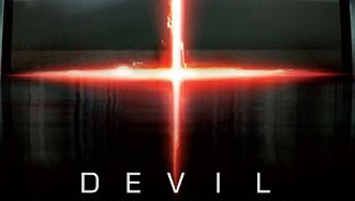 1st look at creepy Shyamalan devil-in-an-elevator movie poster