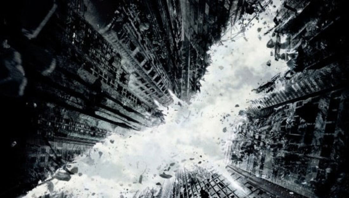 5 odd, unused Dark Knight Rises posters made of bullets and type
