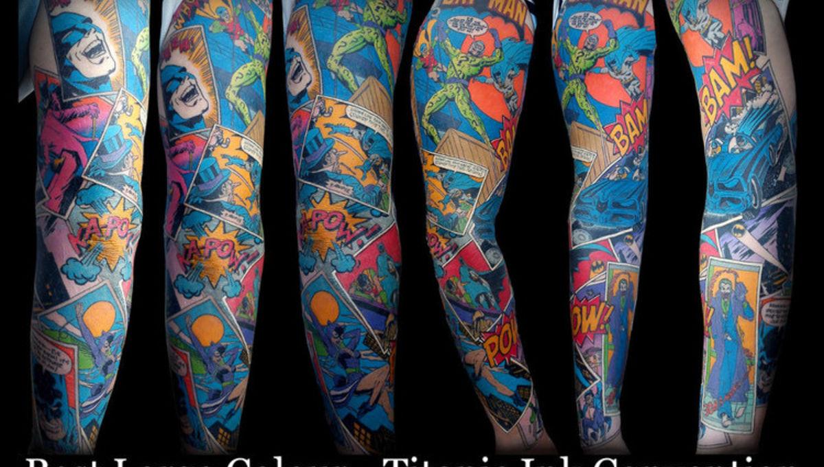 eaa9070e0 Image of the Day: Award-winning Batman comic sleeve tattoo