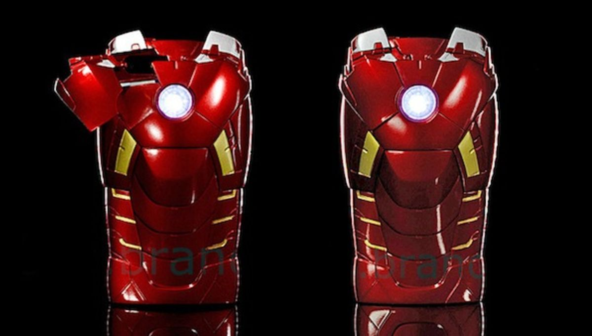 Super geeky Iron Man iPhone case complete with pulsing arc reactor | SYFY WIRE