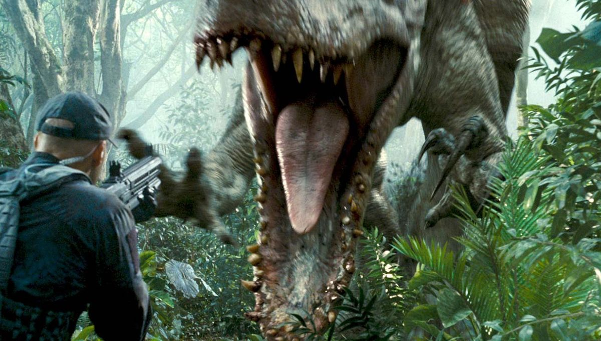 Hybrid dino Indominus Rex lurks in the shadows in creepy new