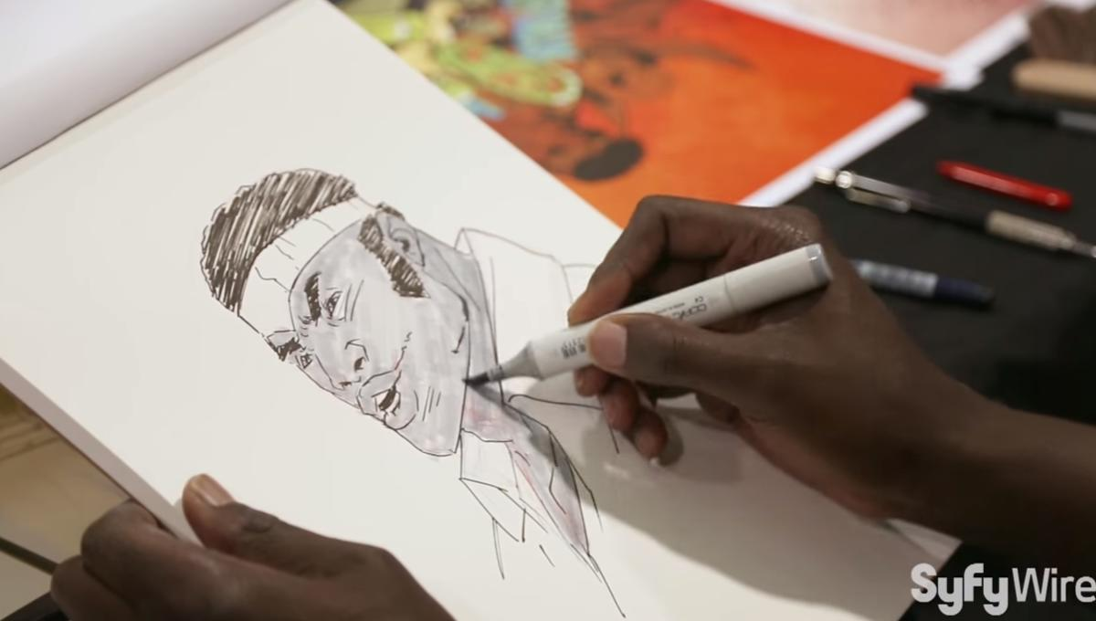 Sanford Greene Luke Cage sketch