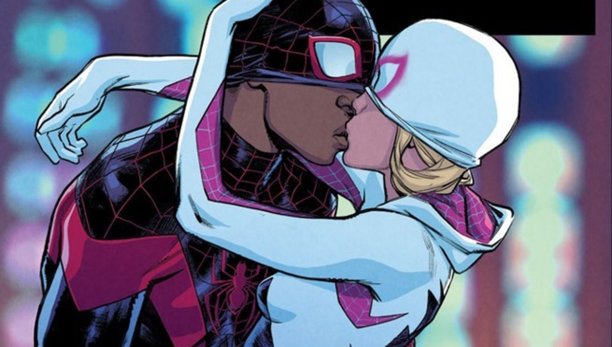 Miles Morales and Spider-Gwen share a kiss in first look at next