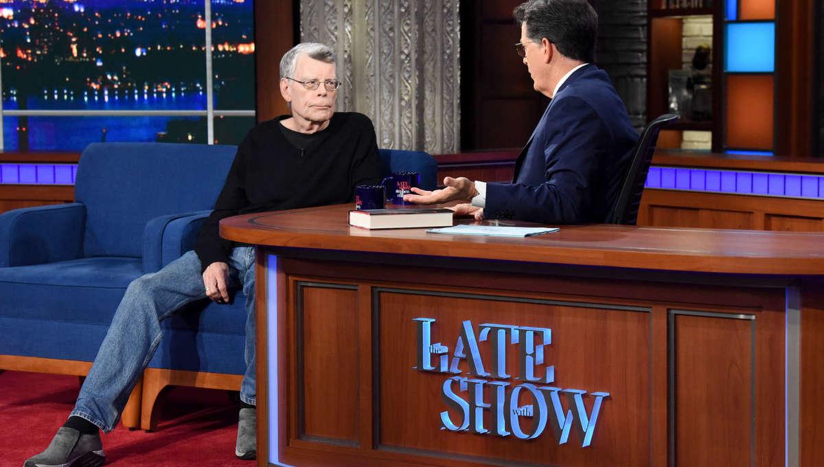 Stephen King Late Show Colbert