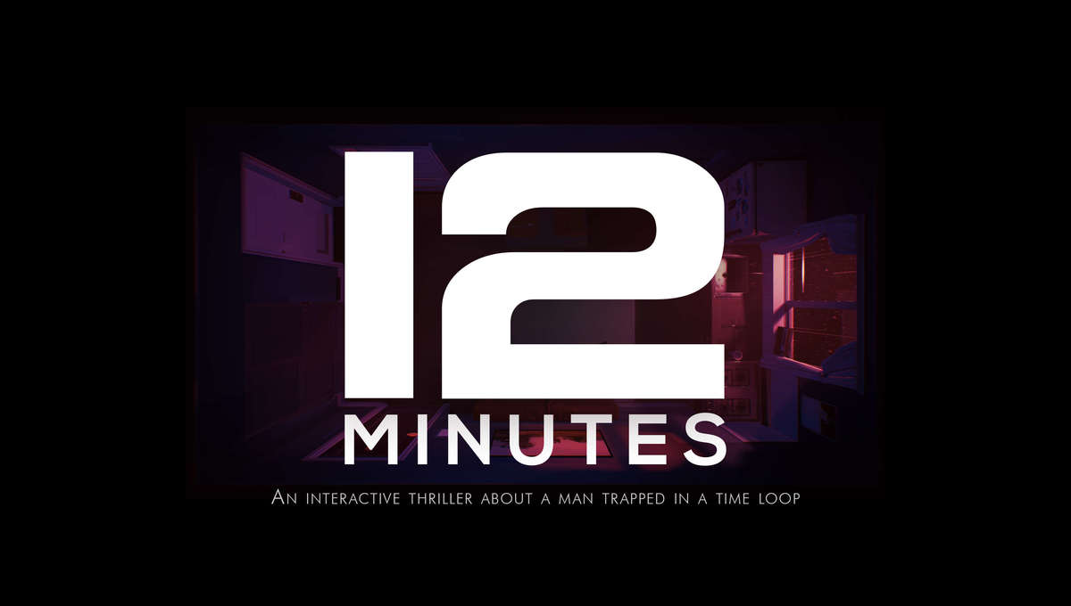 12 Minutes video game logo and tagline