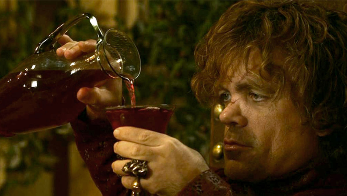 Tyrion drinking wine Game of Thrones