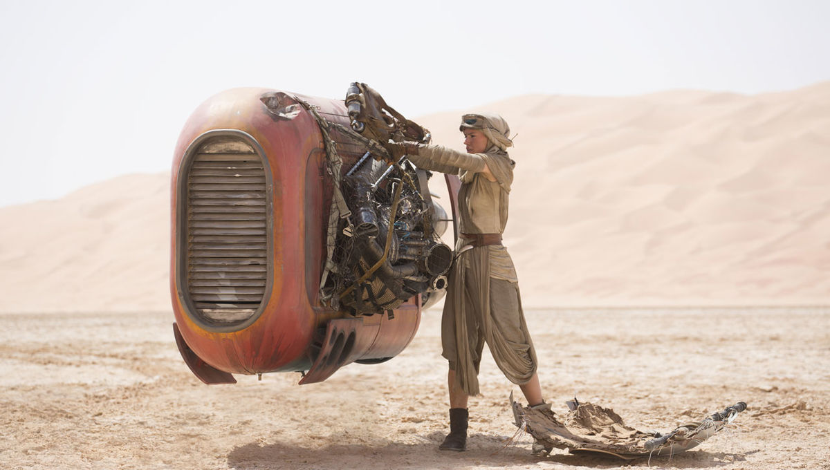 Star Wars Force Awakens, Rey Speeder Jakku