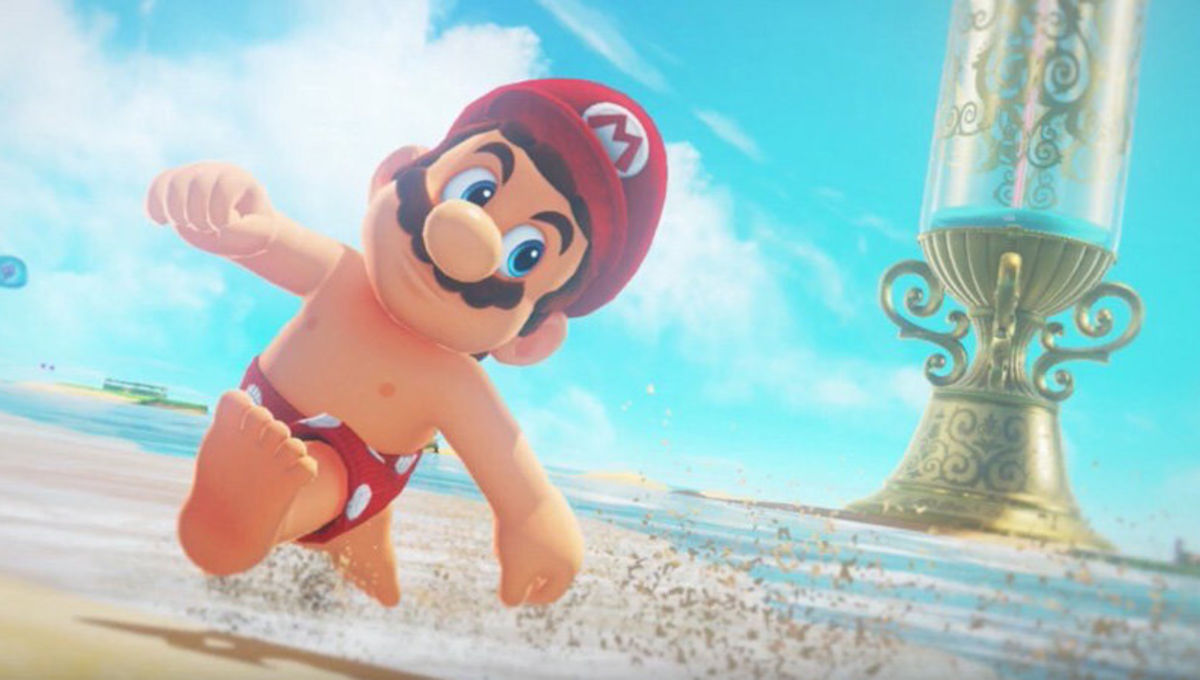 Super Mario Odyssey - Mario's nipples