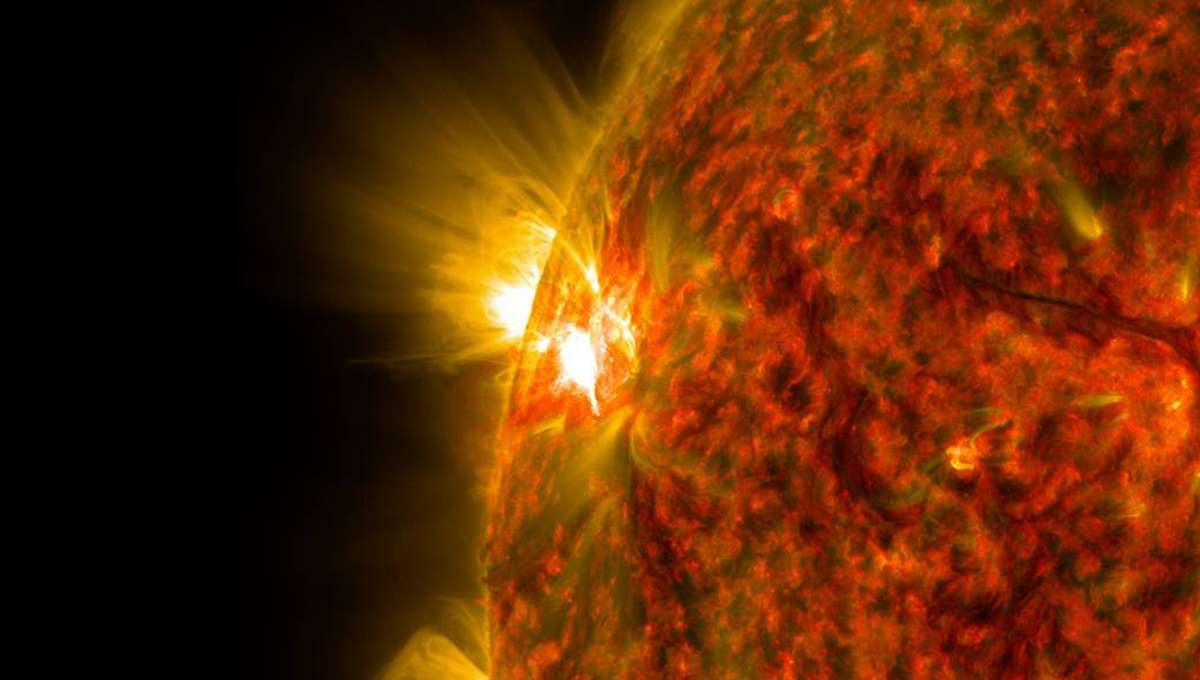 NASA image of a solar flare