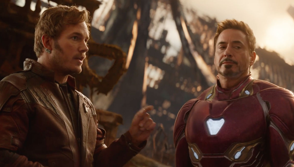 Avengers: Infinity War- Peter Quill and Tony Stark (Chris Pratt and Robert Downey Jr)