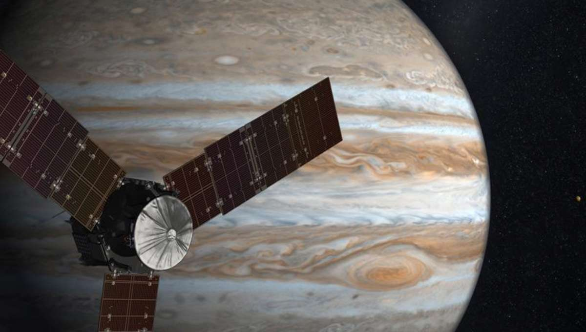 NASA image of Juno spacecraft