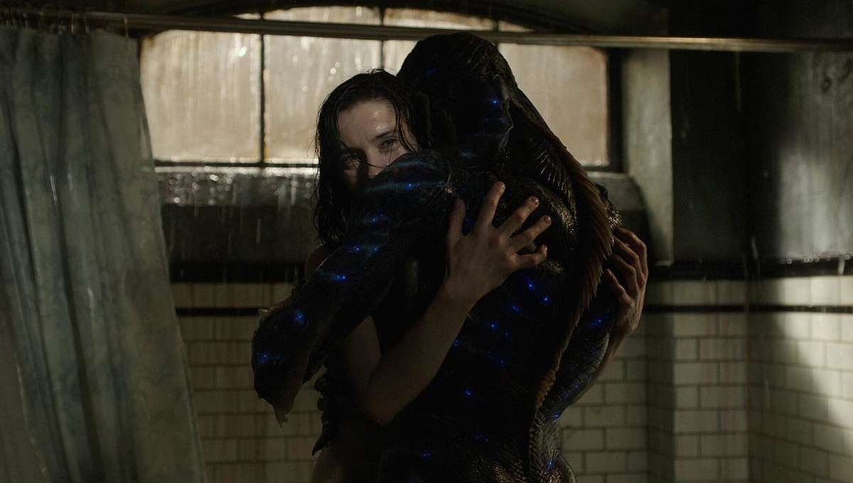 The Shape of Water embrace