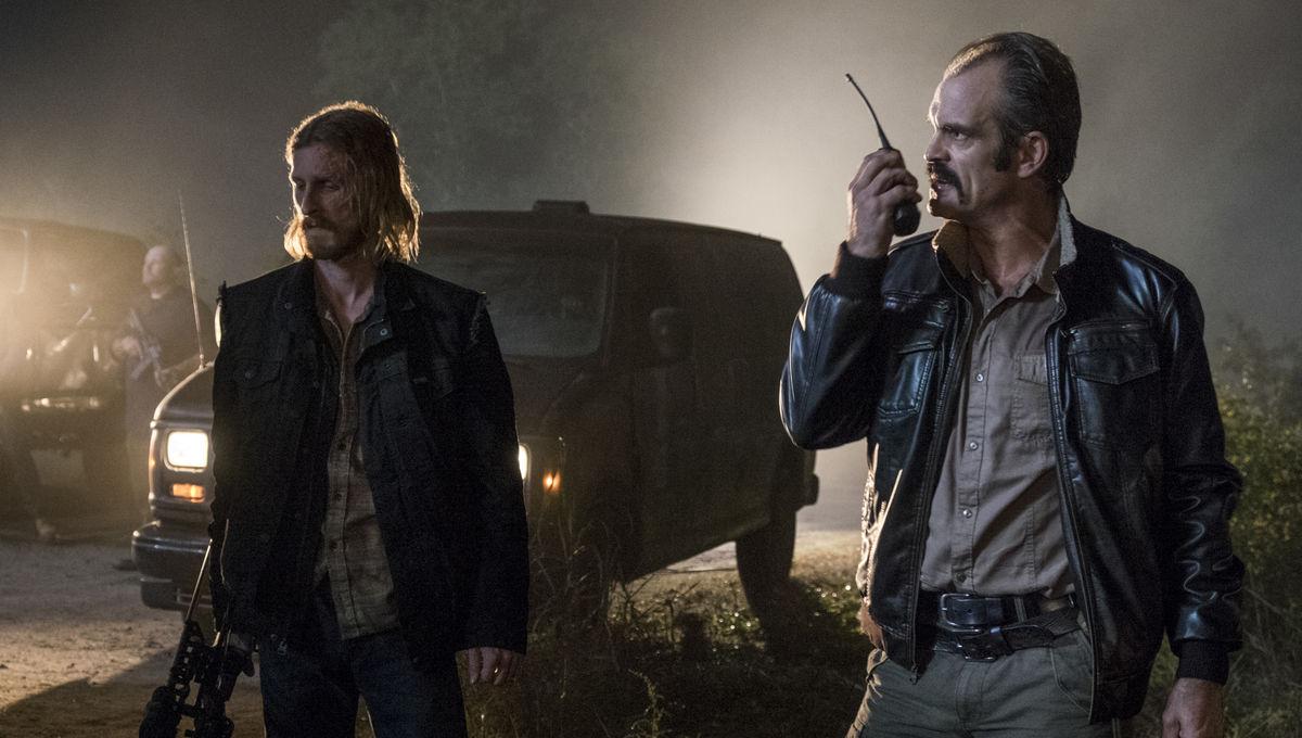 The Walking Dead episode 813 - Dwight and Simon prepare to fight
