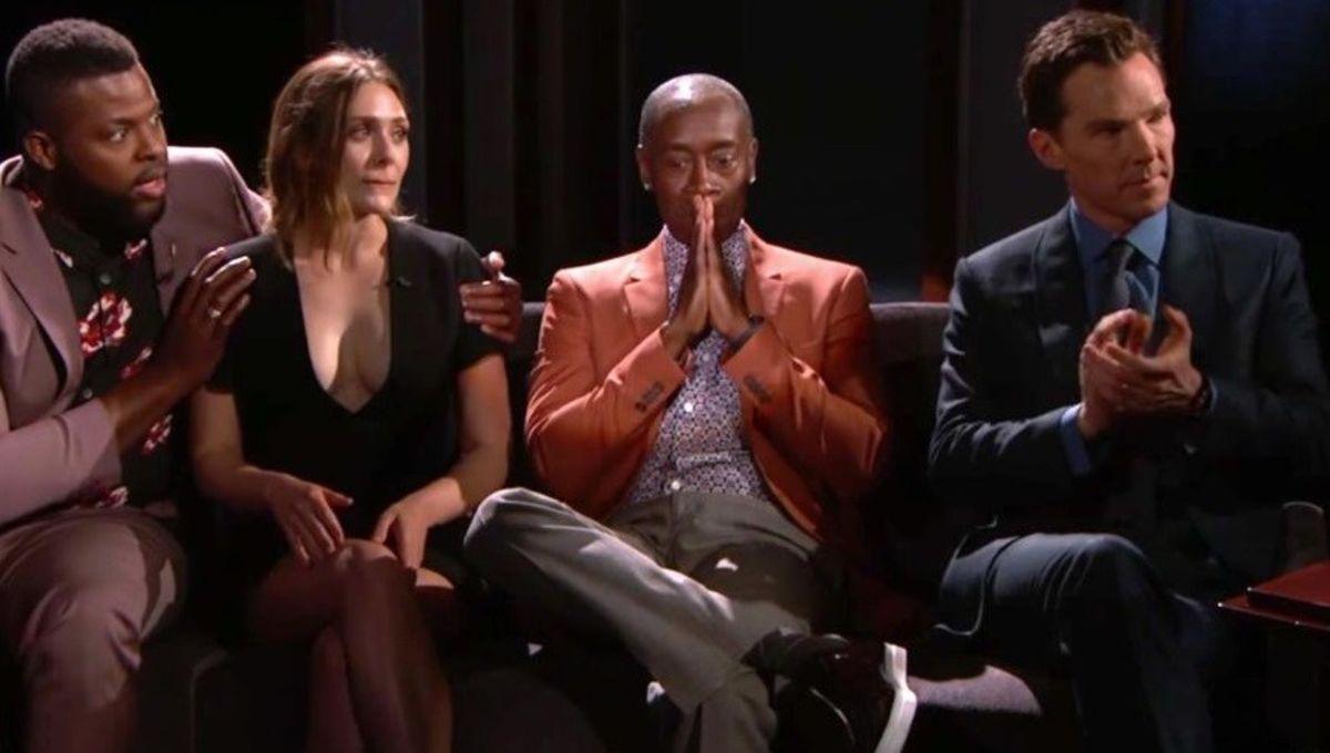 Avengers: Infinity War cast on Jimmy Kimmel Live!