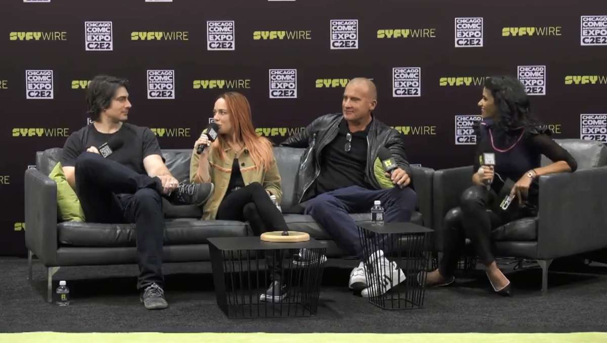 Legends of Tomorrow Cast C2E2 SYFY WIRE Interview Screengrab