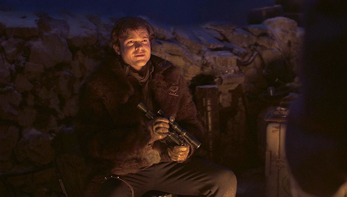 Solo A Star Wars Story Han with gun hero