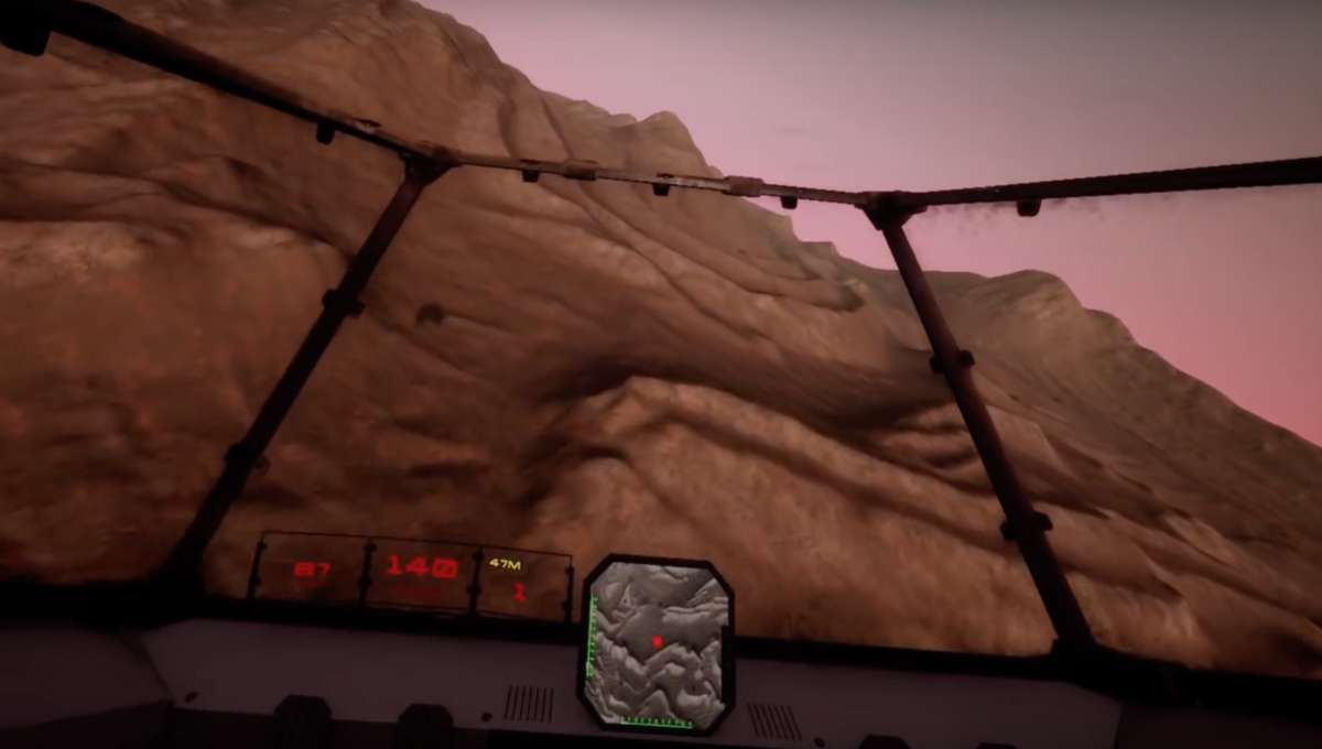 Mars shot from Red Rover video game