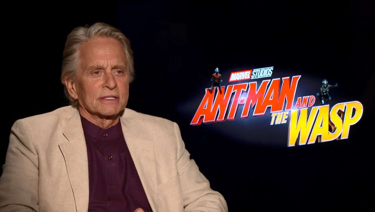 Ant Man And The Wasp Michael Douglas Interview SYFY WIRE Screengrab