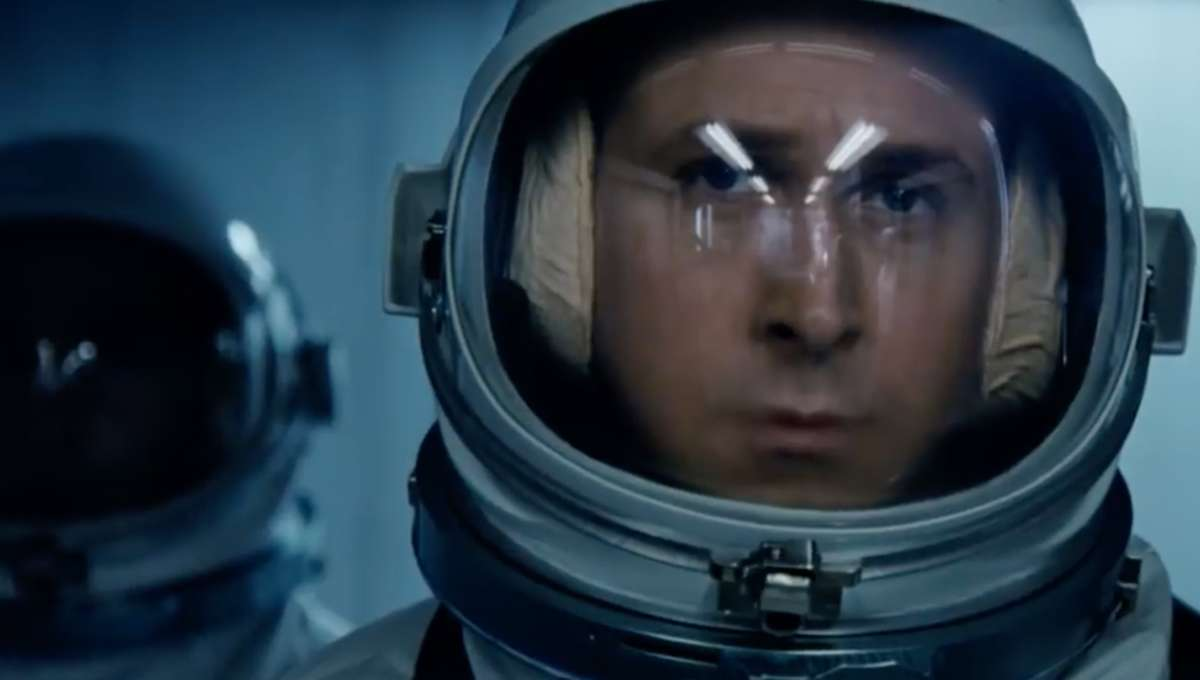 Ryan Gosling as Neil Armstrong in First Man