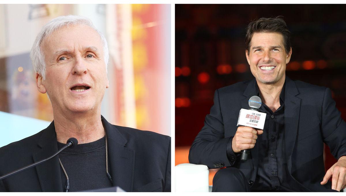 James Cameron and Tom Cruise