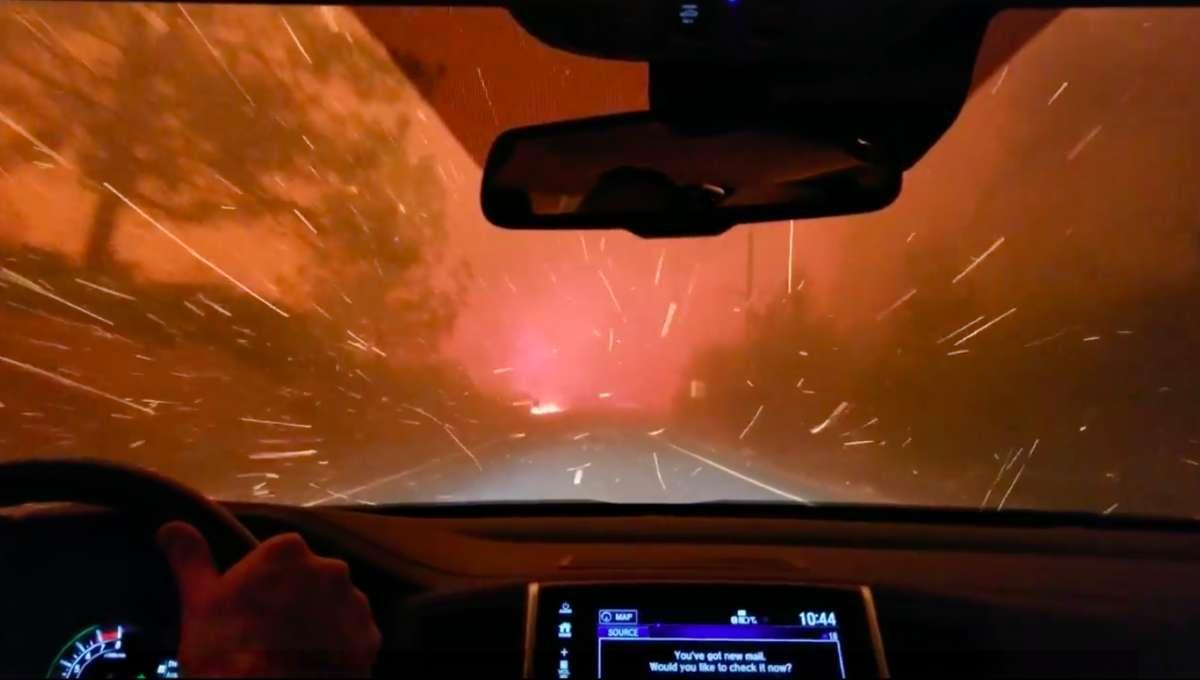 California wildfire video