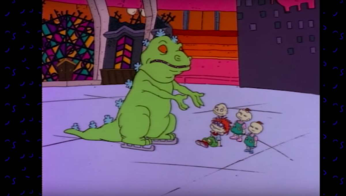 Reptar on Ice Rugrats