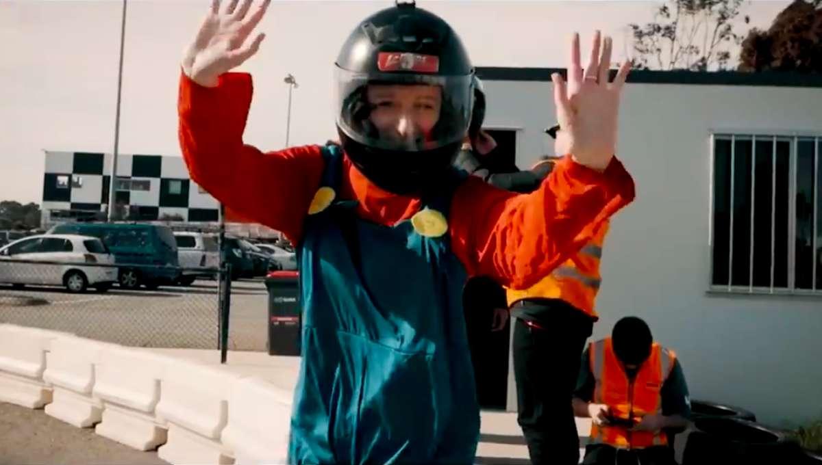 Real-live Mario Kart racing