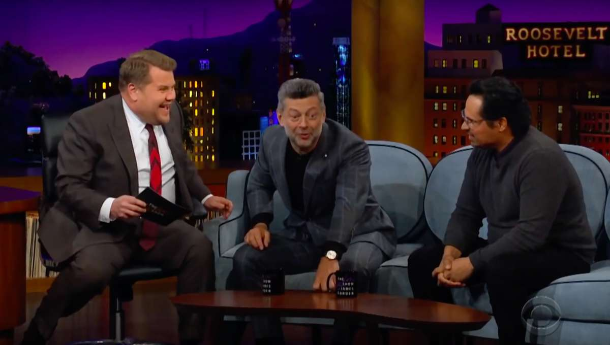 Andy Serkis Michael Pena The Late Late Show with James Corden
