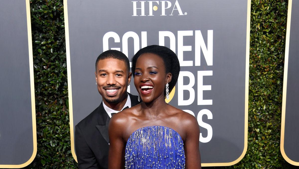 Lupita Nyong'o and Michael B Jordan