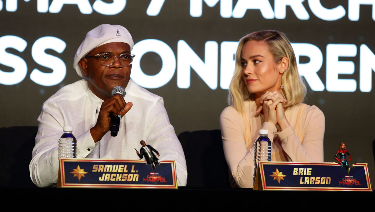 Samuel L. Jackson Captain Marvel panel