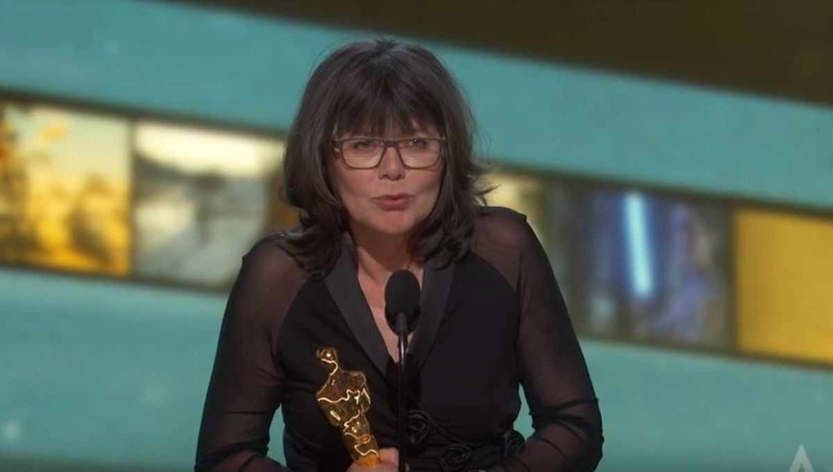Margaret Sixel at the Academy Awards (Copyright: The Academy // YouTube)