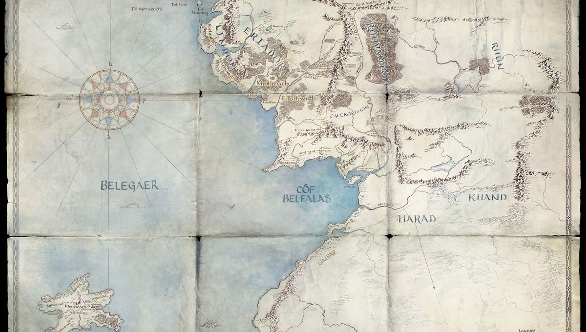 Lord of the Rings amazon map second age