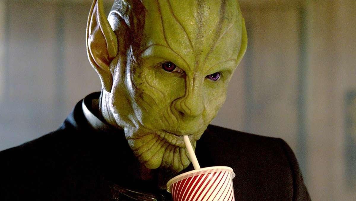 Captain Marvel Talos Drinking Soda