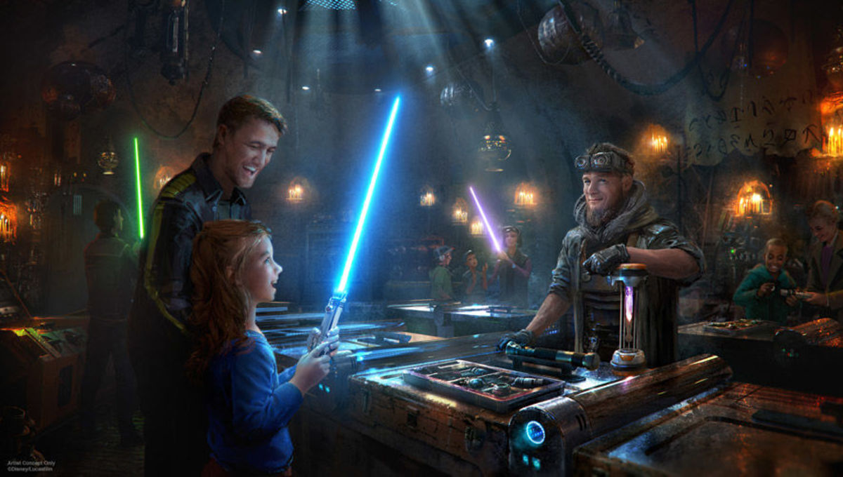 Lightsabers at Star Wars: Galaxy's Edge