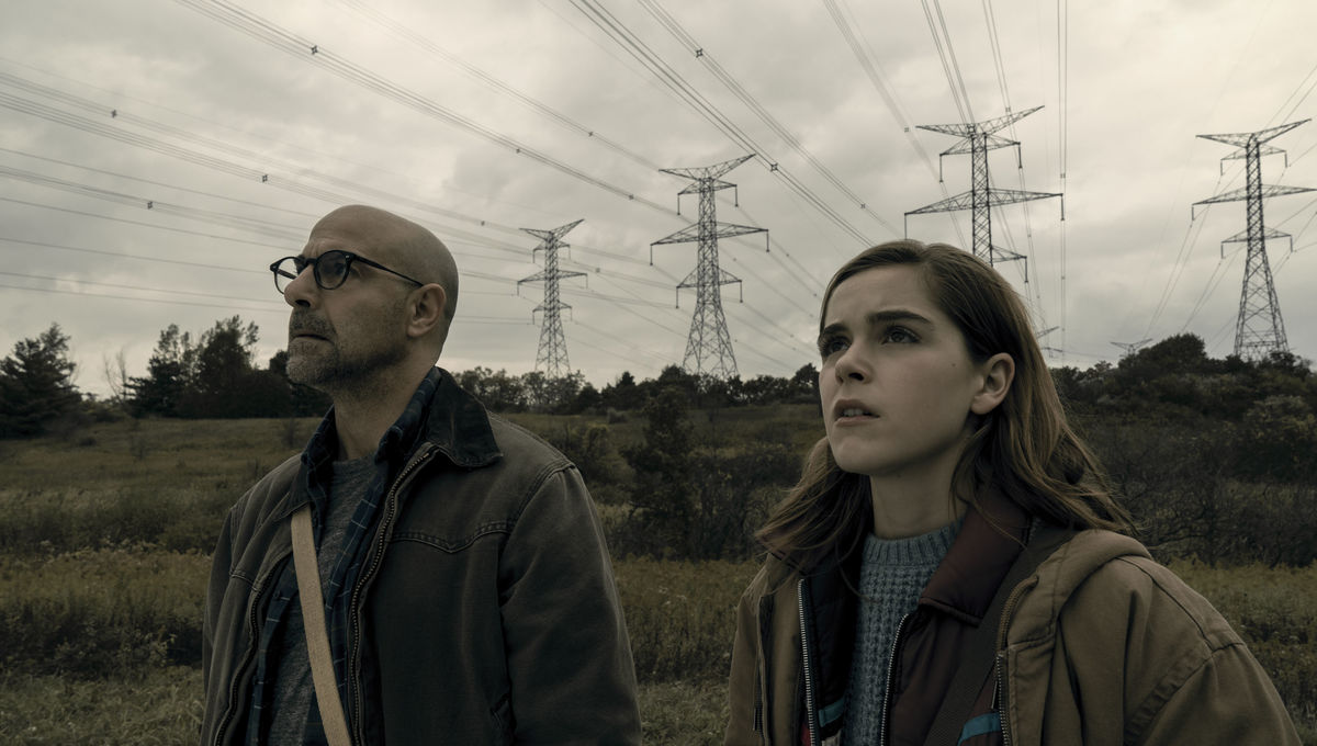 The Silence Stanley Tucci and Kiernan Shipka