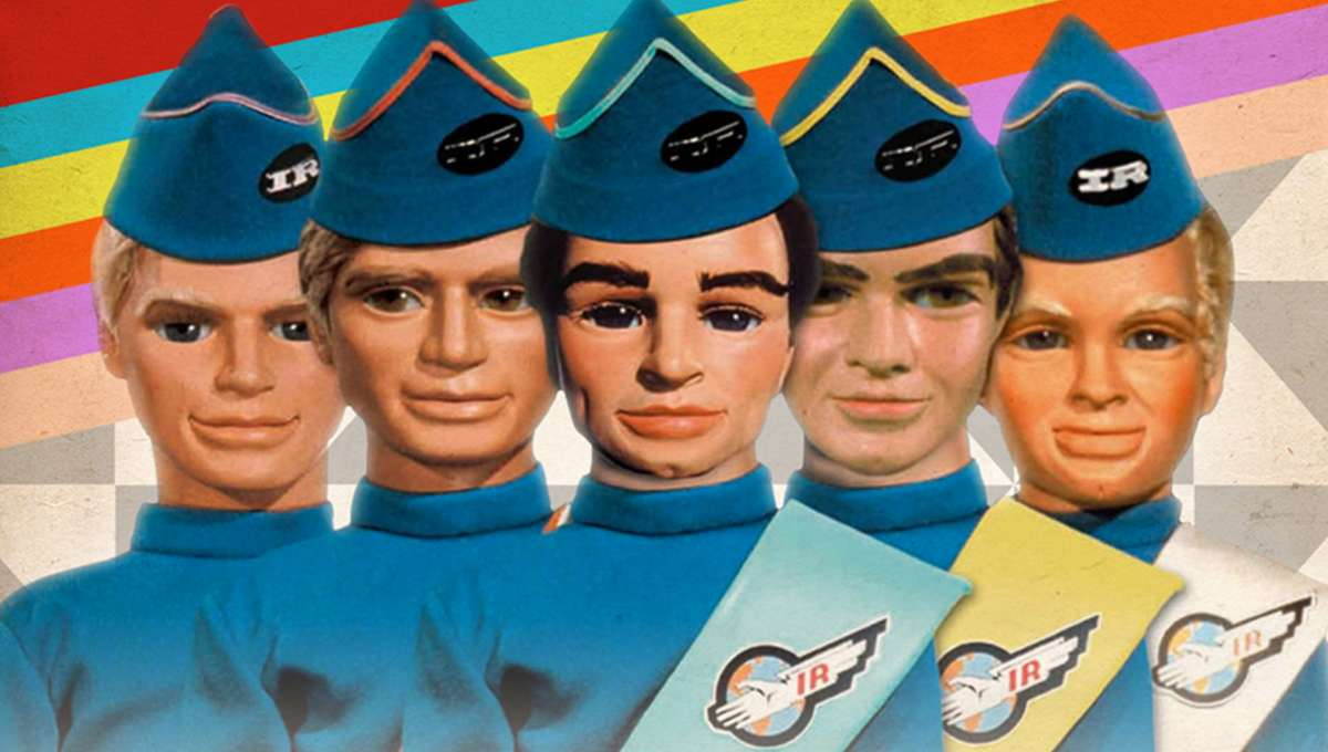 The marionette cast of British TV series Thunderbirds