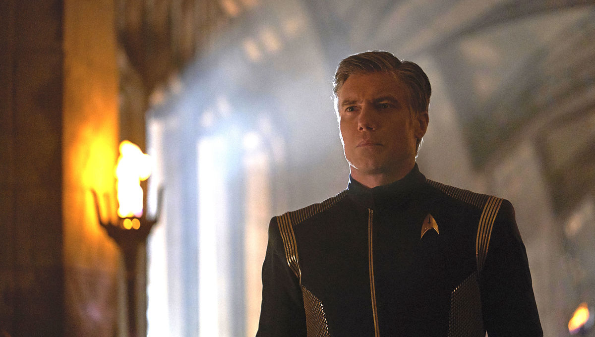 Anson Mount as Captain Pike on Star Trek: Discovery
