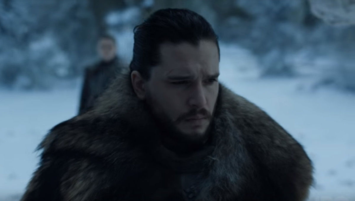 Game of Thrones Jon and Arya at Winterfell