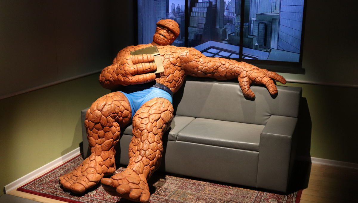 The Thing at Marvel exhibit Franklin Institute