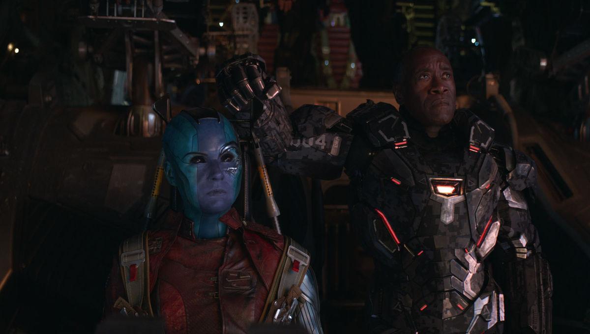 Avengers Endgame Nebula and War Machine