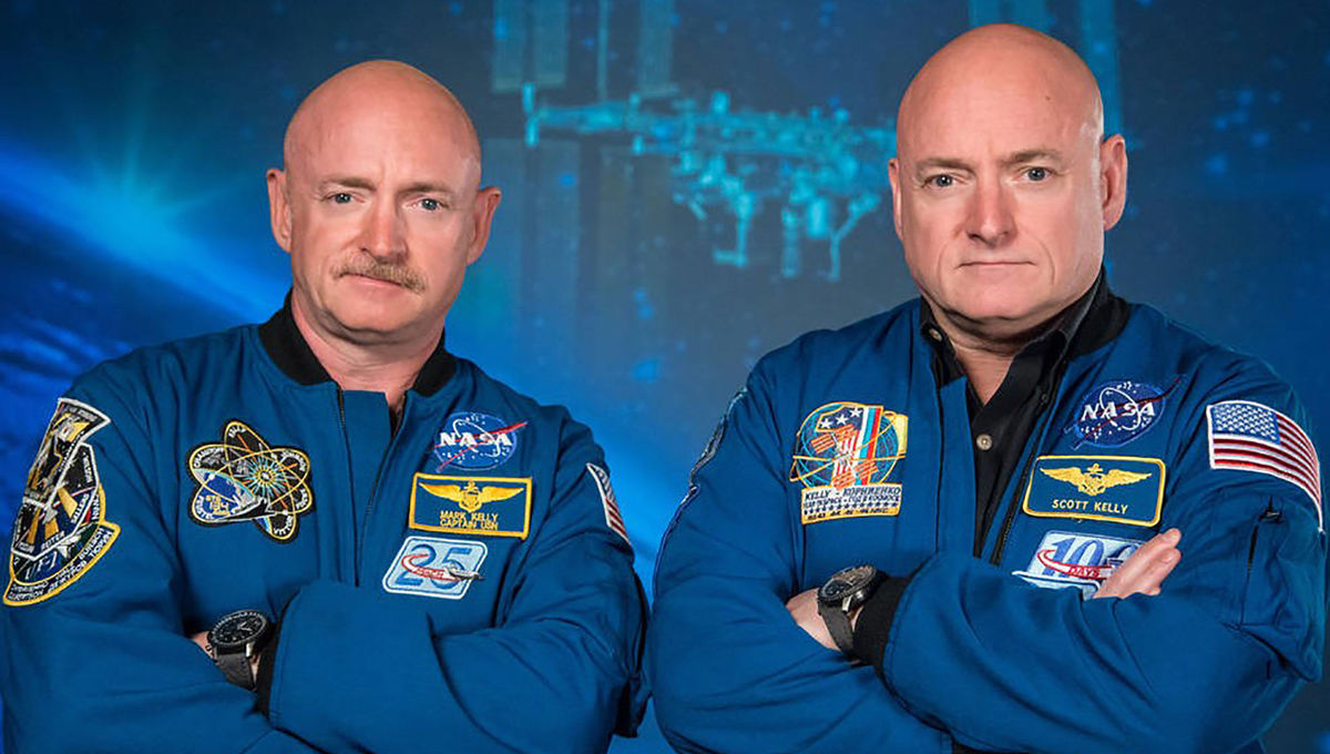 Austronauts Mark Kelly at Left with twin brother Scott Kelly